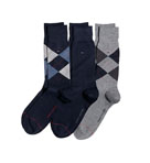 Argyle Crew Socks -3 Pack