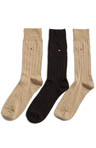 3 Pair Dress Rib Crew Sock