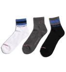 Tommy Hilfiger 3 Pack Quarter Top Sock ATN394