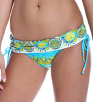 Woodblock Floral Sash Hipster Swim Bottom Image