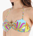 Coral Reef Twist Bandeau Swim Top Image
