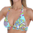 Coral Reef Buckle Front Halter Swim Top Image