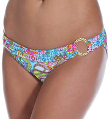 Trina Turk Coral Reef Buckle Side Hipster Swim Bottom TT5B493