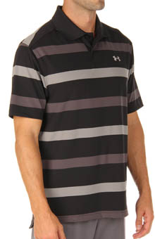 UA Performance Bold Stripe Polo