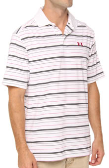 UA PIP Performance Stripe Polo