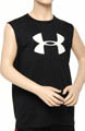 Boys UA Tech Big Logo Sleeveless Shirt Image