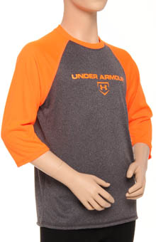 Boys UA 3/4 Sleeve Baseball Top