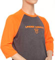 Boys UA 3/4 Sleeve Baseball Top Image