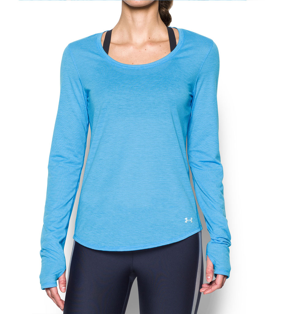 Under armour heatgear streaker long sleeve fitted tee for Under armour fitted t shirt