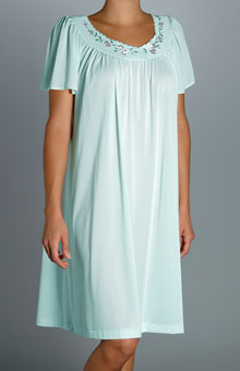 Unmentionables Embroidered Yoke Short Gown