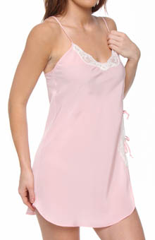 Unmentionables Microfibre Crepe With Lace Chemise