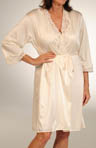 Floral Fascination Robe with Lace