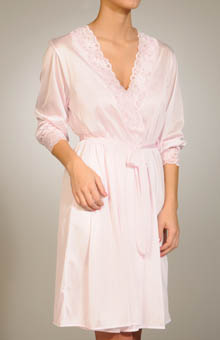 Unmentionables Short Lace Trim Robe