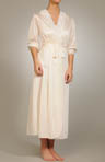 Long Lace Trim Robe Image
