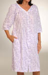 Cotton Print Short Robe
