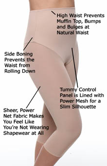 Va Bien Smooth Couture Tight Open Front Mid Calf Shaper 633