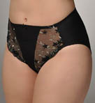 Silver Leaf Embroidered Panty