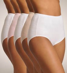 True Comfort 5 Pack Cotton Brief Panty