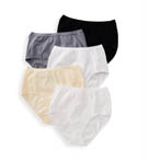 True Comfort 5 Pack Cotton Stretch Brief Panty