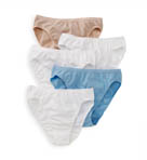 Vanity Fair True Comfort 5 Pack Cotton Stretch Hi-Cut Panty 13341