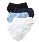 True Comfort 100% Cotton Hipster Panties - 5 Pack
