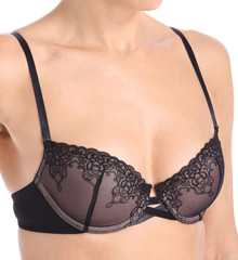 Vassarette Embroidered Demi Underwire Bra 75233