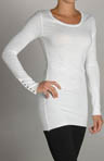 Long Sleeve Crew Tunic Button Cuff Tee