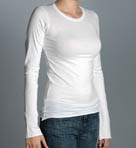 Velvet Long Sleeve Crew Neck Tee ZOFIA