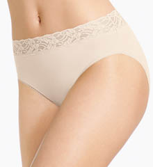 Wacoal Cotton Suede New Hi-Cut Brief Panty 871235