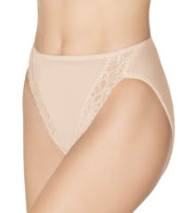 Hi-Cut Lace Trim Brief Panties