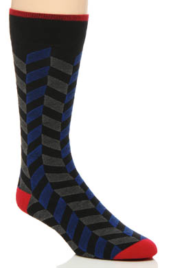 2xist Neo Herringbone Cotton Dress Socks