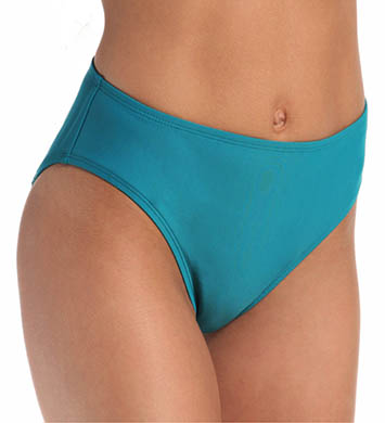 Aerin Rose Ombre Emerald High Waist Swim Bottom