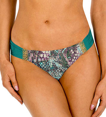 Aerin Rose Viper Ruched Back Hipster Swim Bottom