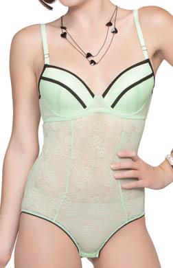 Affinitas Intimates Serena Stretch Lace Bodysuit Bra