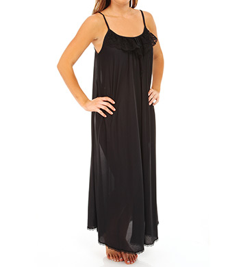Amanda Rich Lace Trim Ankle Length Nightgown