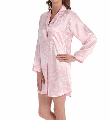 Amanda Rich Satin Sleepshirt
