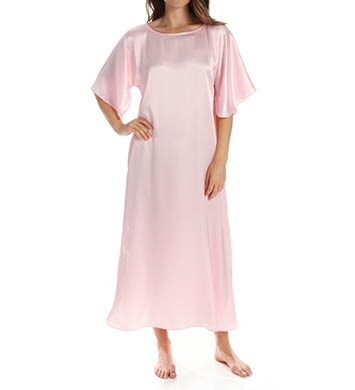Amanda Rich Bias Cut Satin Caftan