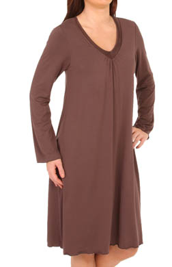 Amoena Long Sleeve Trim Night Dress
