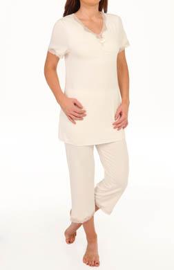 Amoena Short Sleeve Lace Pajama Set