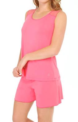 Amoena Daydream Lace Trim Pajama Short Set