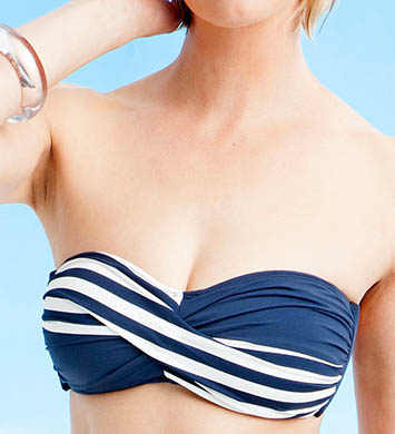 Anne Cole Yacht Club Twist Bandeau Swim Top