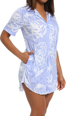 Anne Klein Blues Crinkle Sleepshirt