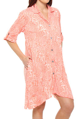 Anne Klein Crazy for Crinkle 3/4 Sleeve Sleepshirt