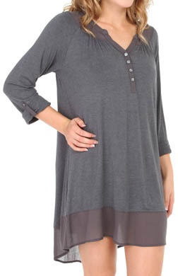 Anne Klein Wintery Nights Long Sleeve Sleepshirt