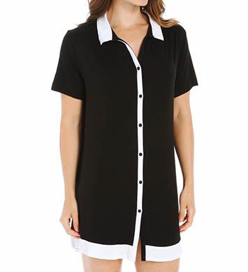 Anne Klein Black & White Short Sleeve Sleepshirt