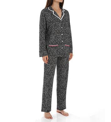 Anne Klein Snow Leopard Long Sleeve PJ Set