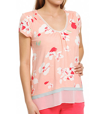 Anne Klein Coral Short Sleeve Top