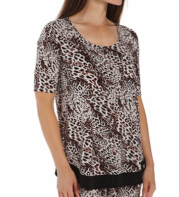 Anne Klein Animal Elbow Sleeve Top