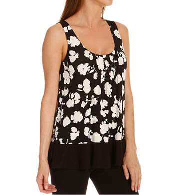 Anne Klein Black & White Sleeveless Top w/ Soft Bra