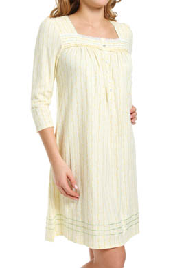 Aria Falling Leaves Three-Quarter Sleeve Nightgown
